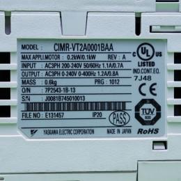 [중고] CIMR-VT2A0001BAA 야스까와 인버터 1/8마력