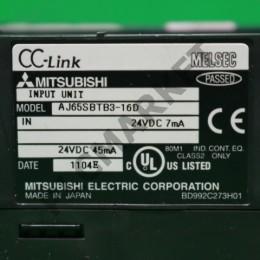 [중고] AJ65SBTB3-16D 리모트I/O모듈 입력모듈 미쓰비시 씨씨링크