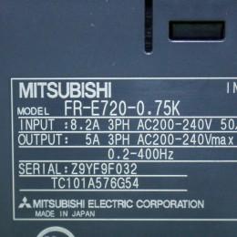 [중고] FR-E720-0.75K 미쯔비시 1마력인버터