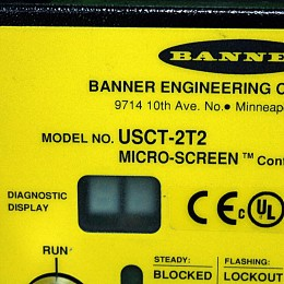 [중고] USCT-2T2 BANNER ENGINEERING USCT-2T2 마이크로 스크린 컨트롤 박스