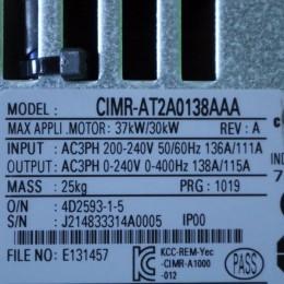 [중고] CIMR-AT2A0138AAA 야스까와 40마력 (30KW) 인버터