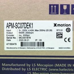 [신품] APM-SC07DEK1 LS 650W 서보모터