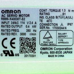 [미사용] R88M-K40030T-S2 옴론 AC 서보 모터
