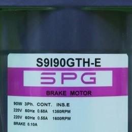 [신품] S9I90GTH-E SPG (에스피지) 90mm 90W 3상 220V 브레이크 모터 (통상납기 : 2주)