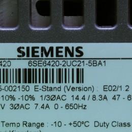[미사용] 6SE6 420-2UC21-5BA1 지멘스 1.5KW 인버터 MICROMASTER 420