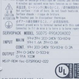 [중고] SGD7S-R90A20A 야스카와 0.1kW AC 서보팩