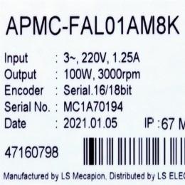 [신품] APMC-FAL01AM8K LS 100W 서보모터