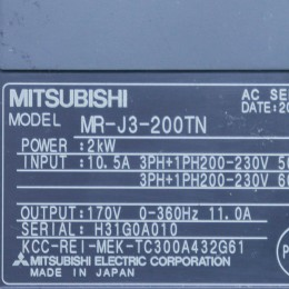 [미사용] MR-J3-200TN 미쯔비시 서보드라이브
