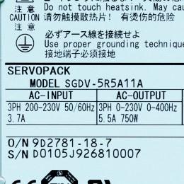 [미사용] SGDV-5R5A11A 야스카와 750W 서보드라이브